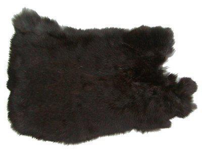 Felle vom Kaninchen mit seidigem Haar 30x30 cm Ensuite Kaninchenfelle wei/ß-braun naturfarben ca