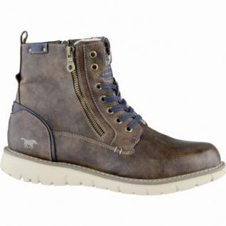 Mustang coole Herren Leder Imitat Winter Boots braun, molliges Warmfutter, warme Decksohle, 2539178