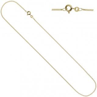 Schmuck-Set Kleeblatt 333 Gold Gelbgold 7 Zirkonia Ohrringe und Kette 45 cm