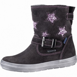 Richter Mädchen Leder Tex Boots steel, mittlere Weite, angerautes Futter, warmes Fußbett, 3741228/35
