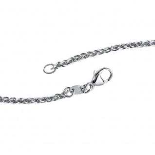 Zopfkette 925 Sterling Silber 2, 2 mm 45 cm Halskette Kette Silberkette Karabiner