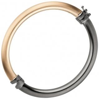 Armreif Armband 925 Sterling Silber bicolor vergoldet teil matt