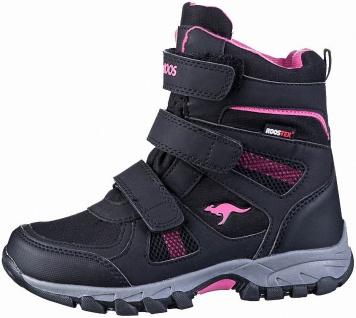 KANGAROOS K-Rani warme Mädchen Synthetik Boots jet black, Fleecefutter, Tex A...