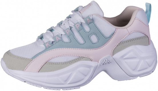 KAPPA Overton coole Damen Mesh Sneakers white, Meshfutter, herausnehmbare Dec...