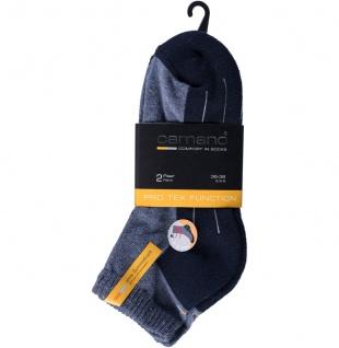 CAMANO Sport Quarter Sport NOS, Damen, Herren Sport Socken navy/jeans