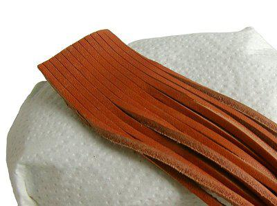 10 Stück Vierkant Lederriemen Rindleder natur am Bund, Voll-Leder, Länge 90 cm, Stärke ca. 2, 8 mm, Breite ca. 2, 8 mm