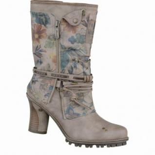 Mustang coole Damen Synthetik Winter Stiefel taupe, Blumenprint, molliges Warmfutter, 1637226/36