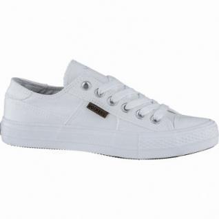 new styles e129d 6c56a Dockers sportliche Damen Canvas Sneakers weiss, weiches Fußbett, modische  Sneaker Laufsohle, 1240209/36