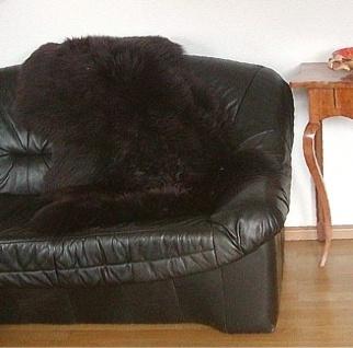 australische Lammfelle braun gefärbt waschbar, Haarlänge ca. 70 mm, ca. 120x7...