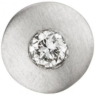 Anhänger rund 950 Platin matt 1 Diamant Brillant 0, 25ct. Platinanhänger