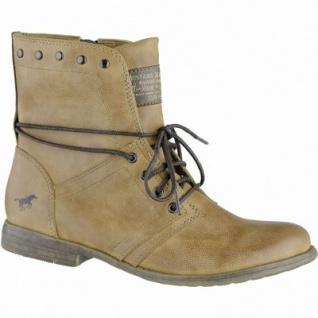 Mustang coole Damen Synthetik Boots cognac, leichtes Futter, weiche Decksohle, 1639107/37