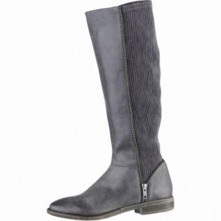 SPM Calvados modische Damen Leder Stiefel grau, Warmfutter, 1639273/39