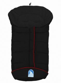 molliger Baby Winter Fleece Fußsack schwarz, voll waschbar, für Kinderwagen, ...
