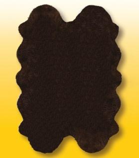 Fellteppiche braun gefärbt aus 4 Lammfellen, Größe ca. 185 x 125 cm, 30 Grad ...