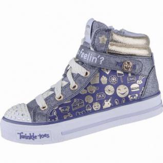 Skechers Shuffes giggle glam coole Mädchen Textil Sneakers navy gold, Textilfutter, weiches Fußbett, 3339111