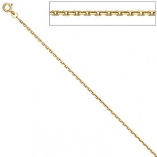 Ankerkette 585 Gelbgold 1, 9 mm 45 cm Gold Kette Halskette Goldkette Federring