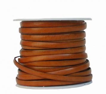Ziegenleder Lederriemen, Lederband flach natur, Kanten schwarz gefärbt, Länge 25 m, Breite ca. 5 mm, Stärke ca. 1, 0 mm