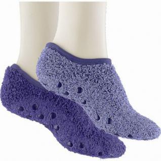 Camano Cosy Sneaker Melange blue, 2er Pack flauschige Damen Kuschel Sneaker Socken blau, 6539104/39-42