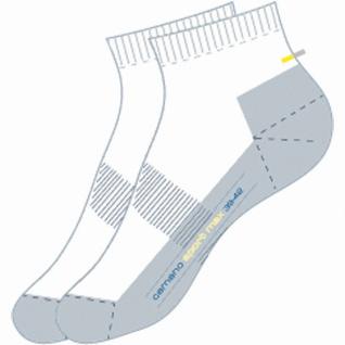 Camano Sport Quarter Sport NOS weiß, 2er Pack Damen, Herren Socken
