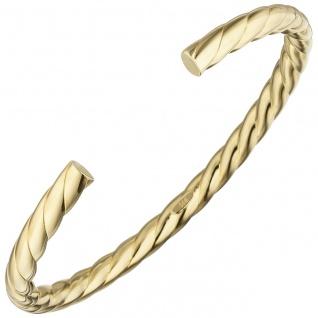 Armspange / offener Armreif 925 Silber gold vergoldet Armband oval