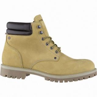 Jack&Jones Stoke Herren Leder Boots honey, leichtes Warmfutter, herausnehmbare Einlegesohle, 2539114/40