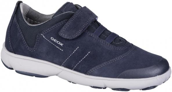 GEOX Jungen Leder Sneakers navy, Geox Leder Fußbett, Nebula Ausstattung