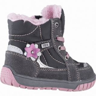 Lurchi Jona Mädchen Winter Leder Tex Boots grey, molliges Warmfutter, warmes Fußbett, 3241117 - Vorschau 2