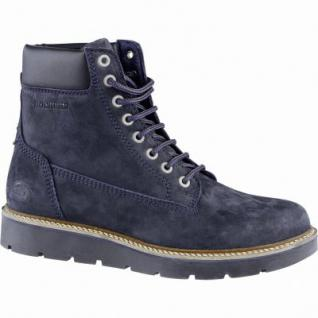 Dockers mega coole Damen Leder Boots blau, Cambrellefutter, Plateaulaufsohle, 1639355