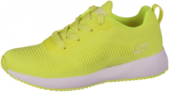 SKECHERS Bobs Squad Damen Sneakers neon yellow, Strickmaterial, Memory Foam F...
