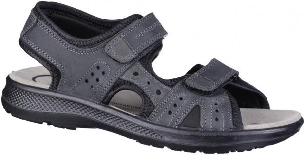 JOMOS Herren Leder Sandalen schwarz, Jomos Aircomfort Leder Fußbett