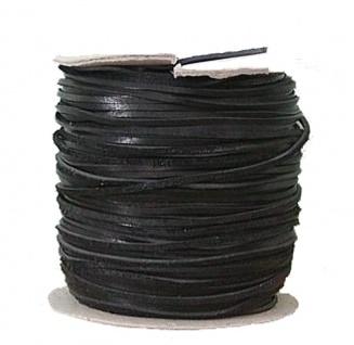 Lederflechtband Känguruleder schwarz, Länge 50 m, Breite ca. 10 mm, Stärke ca...