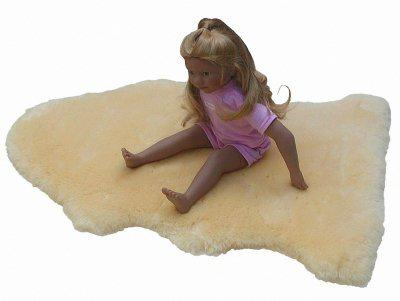 weiches Babylammfell medizinisch gegerbt, geschoren, waschbar, ca. 90-99 cm lang lang