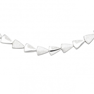 Collier Halskette 925 Silber 120 Zirkonia 45 cm Kette Silberkette