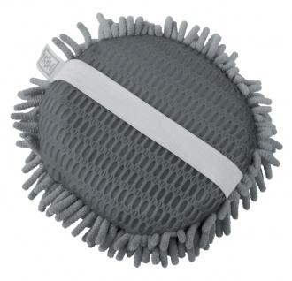 Auto Mikrofaser Waschpad mit 2 Seiten grau, Ø 18 cm, reinigt ohne kratzen, fu...