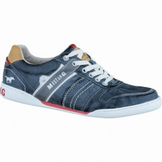 Mustang modische Herren Synthetik Sneakers stein, Textilfutter, gepolsterte Decksohle, 2136121/40