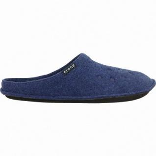 Crocs Classic Slipper warme Damen, Herren Textil Hausschuhe blue, kuscheliges Futter, Wildlederboden, 1941102/41-42