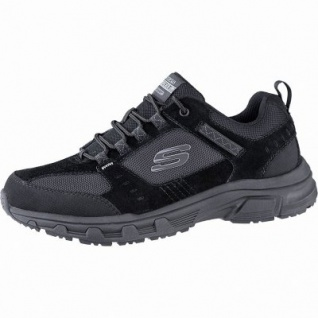 Skechers Oak Canyon coole Herren Synthetik Sneakers black, Skechers Air-Cooled Memory Foam-Fußbett, 4241150