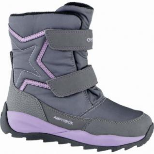 Geox Mädchen Winter Synthetik Amphibiox Boots grey, molliges Warmfutter, Thermo Fußbett, 3739175