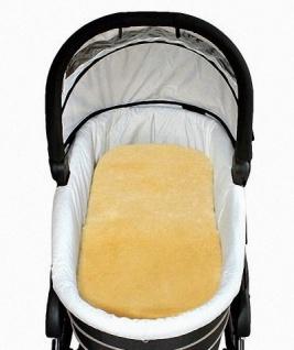 Baby Lammfell Einlagen 30 mm geschoren für Tragetasche, Kinderwagen, Kinderbett, ca. 73x33 cm, waschbar - Vorschau 1