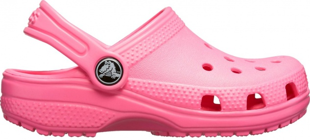 CROCS TM SHOES Classic Clog Kids Mädchen Clogs pink lemonade, Massage Fußbett