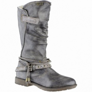 Mustang Mädchen Synthetik Winter Tex Stiefel grau, Warmfutter, warme Decksohle, 3739217/31