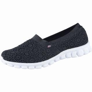 Skechers EZ Flex coole Damen Macrame Mesh Slipper black, Memory Foam-Fußbett