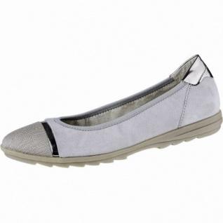 Jana softe Damen Leder Ballerinas grey, herausnehmbares Jana Fußbett, Weite G, 1140114/38