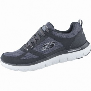 Skechers Flex Advantage 2.0 coole Herren Mesh Sneakers black, Air-Cooled-Memory-Foam-Fußbett, 4238175/43