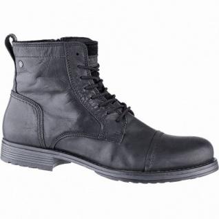Jack&Jones JFW Russel Herren Leder Boots anthracite, 14 cm Schaft, Textilfutter, herausnehmbare Einlegesohle, 2541102