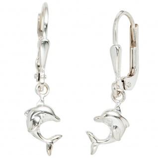 Kinder Boutons Delfin 925 Sterling Silber Ohrringe Ohrhänger Kinderohrringe