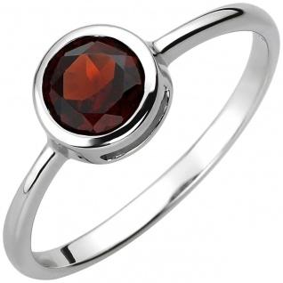 Damen Granat Ring 925er Sterling Silber, 7, 4 mm breit, Damen Granat Silberring