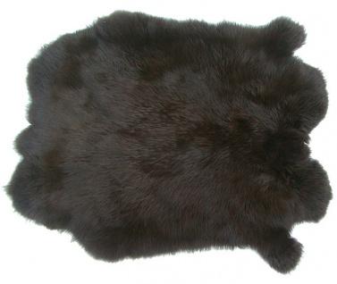 Kaninchenfelle braun gefärbt, ca. 30x30 cm, Felle vom Kaninchen mit seidigem ...