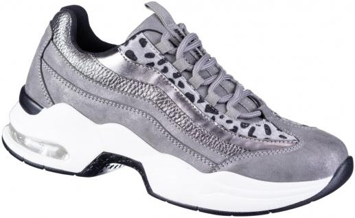 DOCKERS Damen Leder Imitat Sneakers dunkelgrau, Light Weight Laufsohle