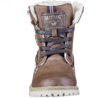 MUSTANG Jungen Winter Synthetik Tex Boots kastanie, Warmfutter, warme Decksohle - Vorschau 4